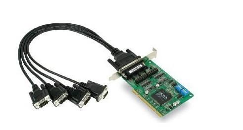 多串口卡接口为pci接口,将主机pci接口与多串口卡相连,安装驱动.