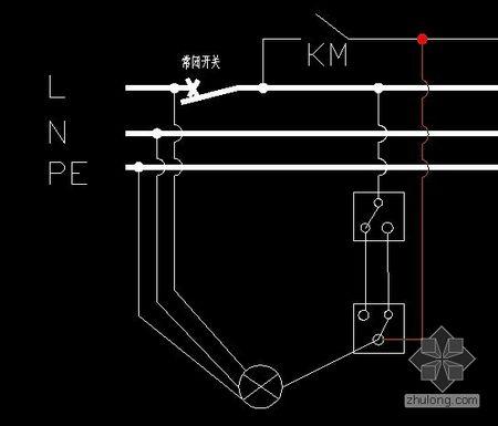 单连双控开关接线图及原理图